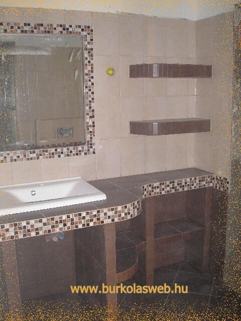 Fürdőszoba mosdó építés, épített mosdók!