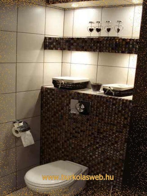 polcépítés wc felett
