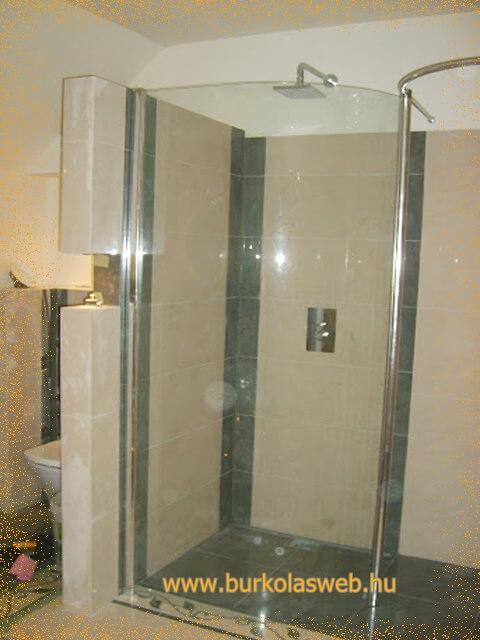 zuhany építés