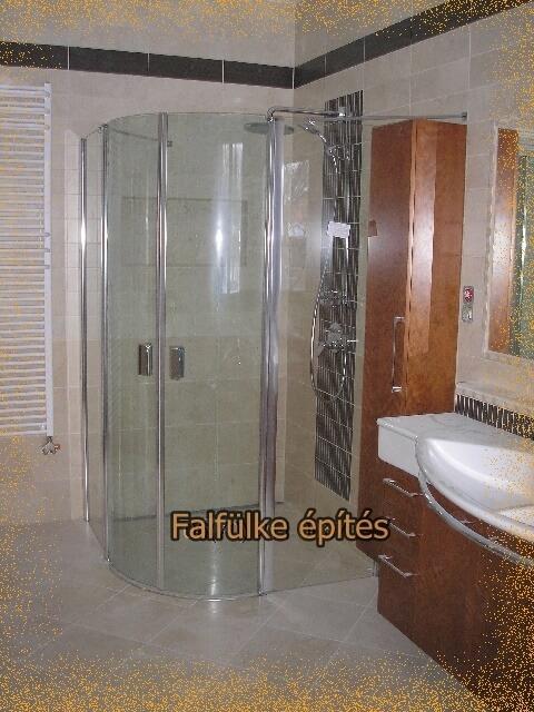 zuhanyzó építés