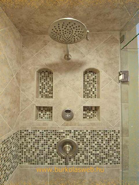 épített zuhanyzó épített polc