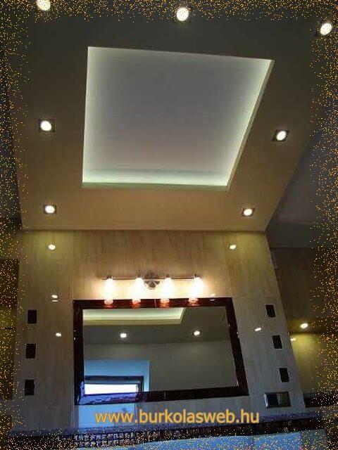 fürdőszoba mennyezet világítás
