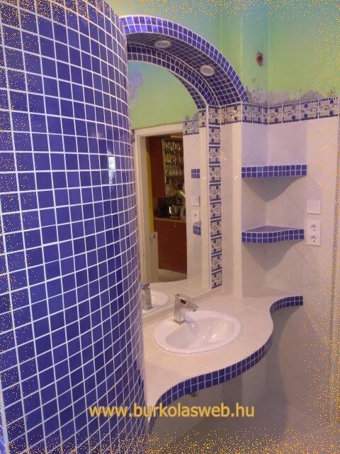 épített mosdó és tál
