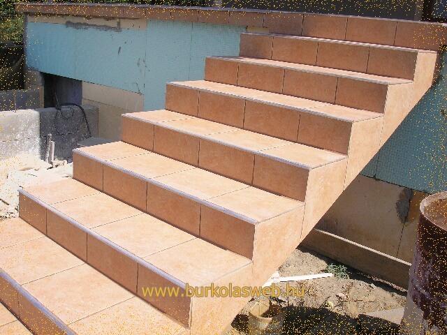 lépcső burkoló munkák
