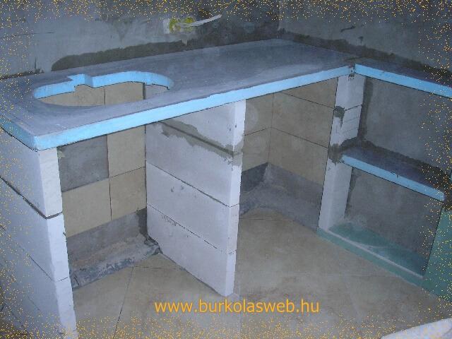 mosdópult építő lemezzel