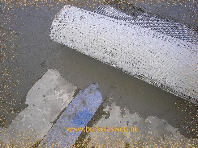 repedést áthidaló vízszigetelő szalag alkalmazása