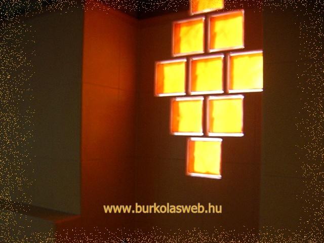 üvegtégla fényszinező hatása