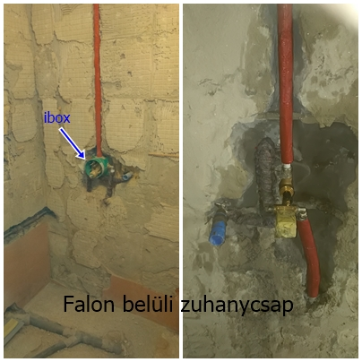 zuhanyzó csaptelep falsíkon belül