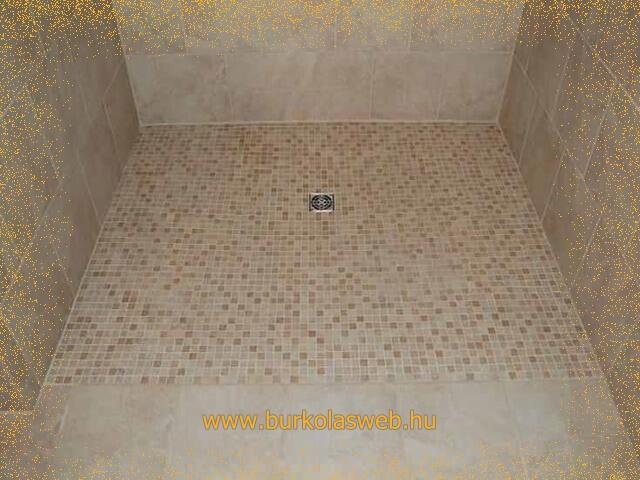 zuhanyzó tálca építés