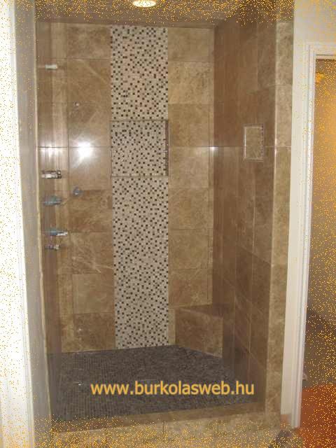 zuhanyzó burkolat